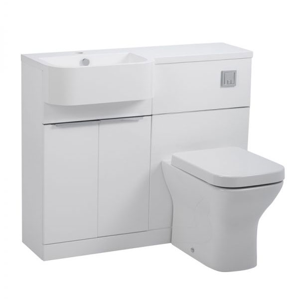 Tavistock Match 1000mm Furniture Run - Gloss White - Left or Right Hand Option Large Image