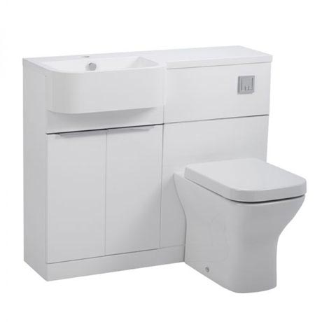 Tavistock Match 1000mm Furniture Run - Gloss White - Left or Right Hand Option