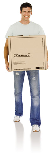 Man carrying a Zamori box