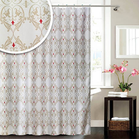 Marquis W1800 x H1800mm Polyester Shower Curtain