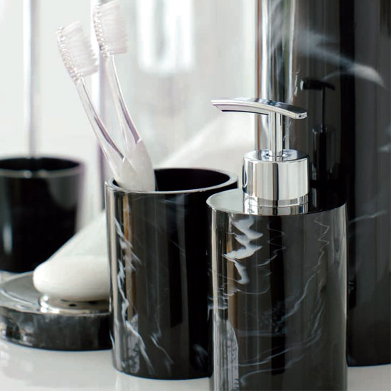 Cool Diamond Black Bathroom Accessories By Kaleidoscope  Clearance365