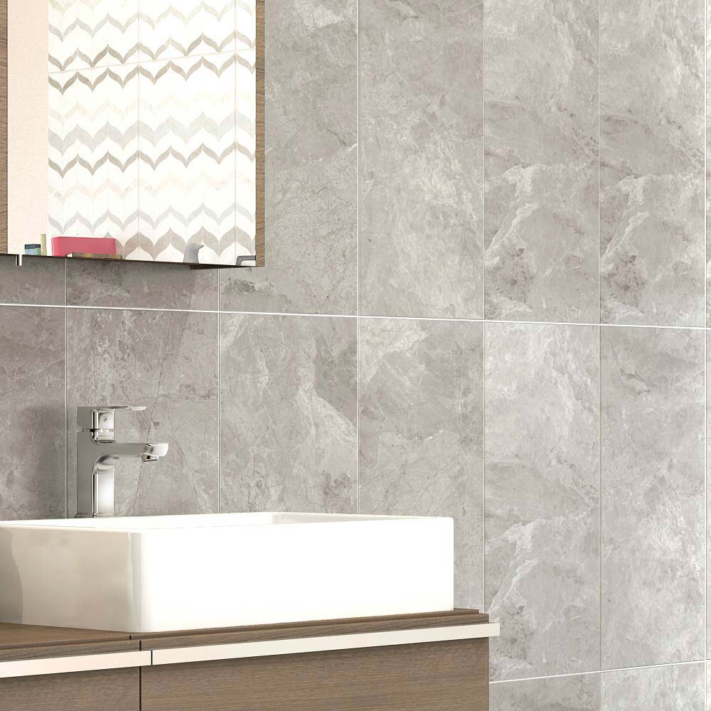 ... Casca Grey Matt Wall Tiles   30 X 60cm | 5 Bathroom Tile Ideas For Small
