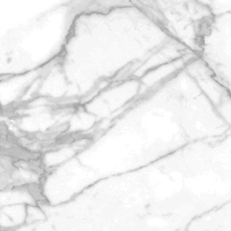 Massa Carrara Matt White Marble Ceramic Floor Tiles - 498 x 498mm