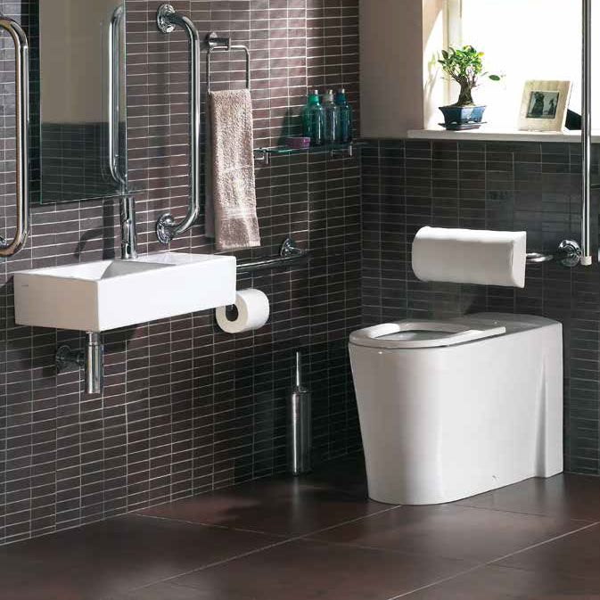 Vitra Matrix Accessible Back to Wall Pan with Seat Profile Large Image