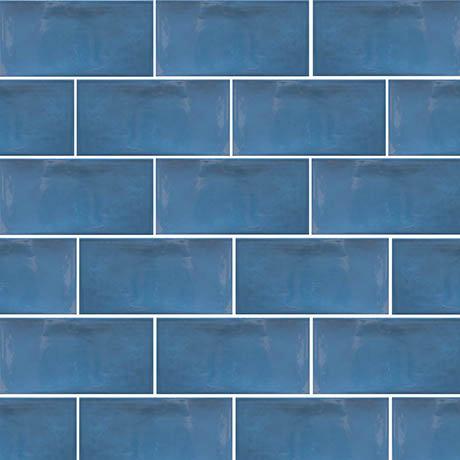 Mataro Blue Gloss Wall Tiles - 125 x 250mm