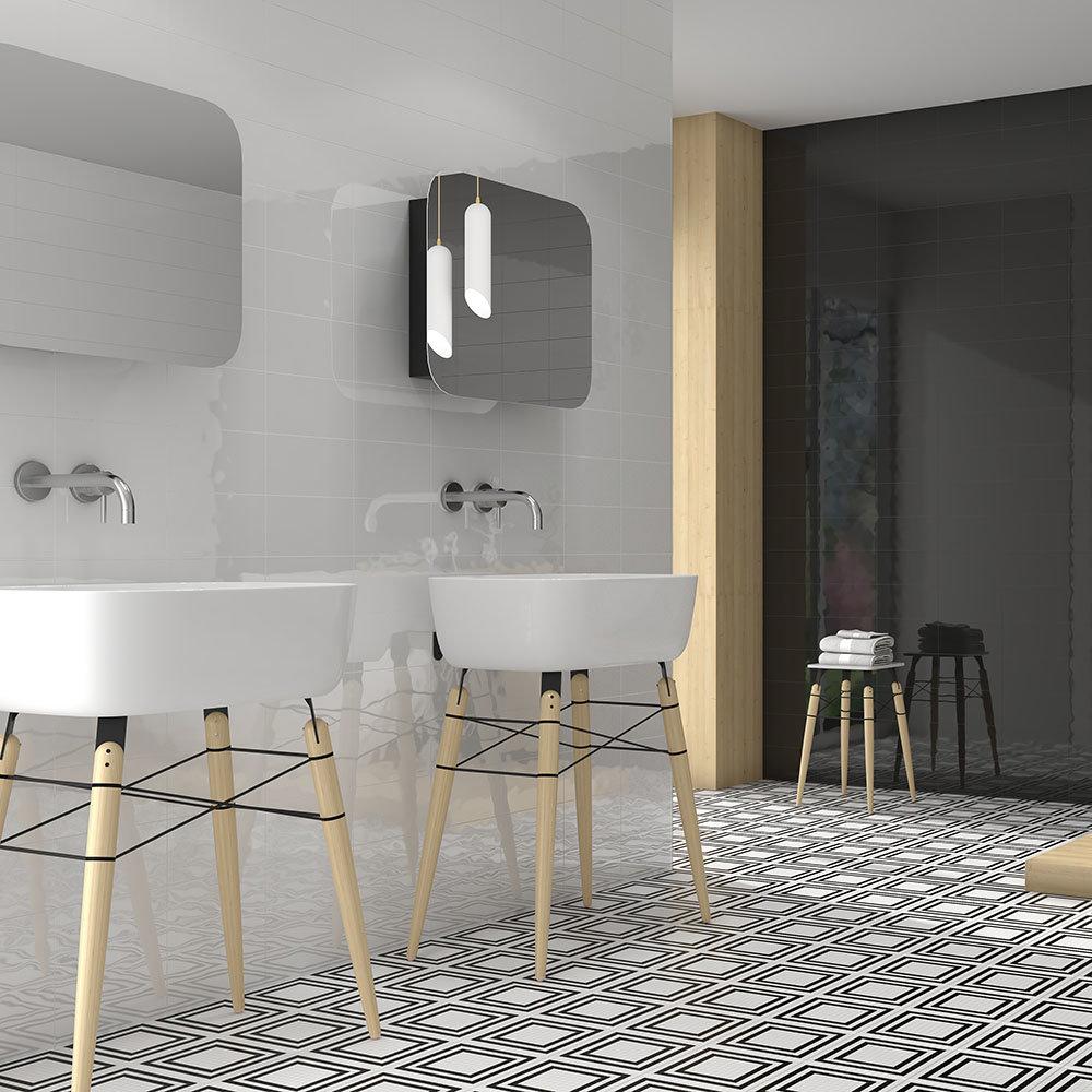 Mataro White Gloss Wall Tiles - 125 x 250mm
