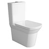 Hudson Reed Maya BTW Close Coupled Toilet + Soft Close Seat profile small image view 1