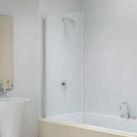Merlyn Ionic Fixed Square Bath Screen (800 x 1500mm) Large Image