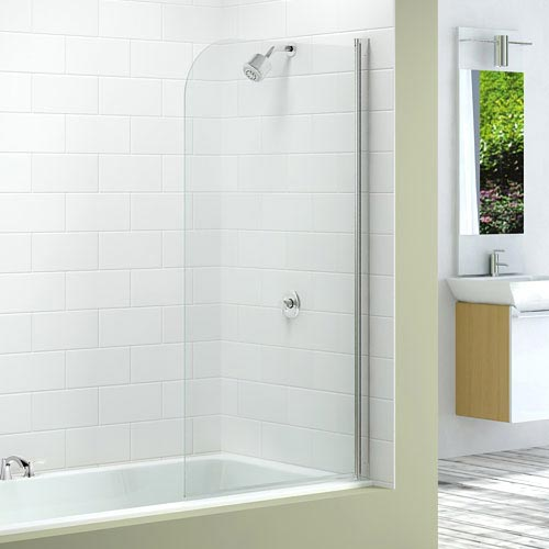 Merlyn Single Curved Bath Screen (800 x 1500mm) Large Image