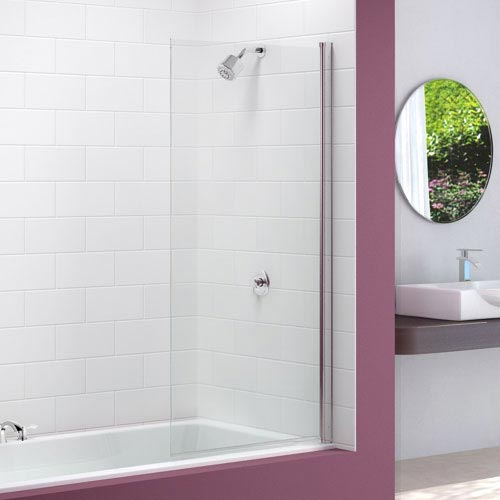 Merlyn Single Square Bath Screen (800 x 1500mm) Large Image