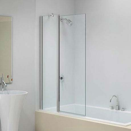 Merlyn Ionic Two Panel Folding Square Bath Screen (900 x 1500mm) profile large image view 1