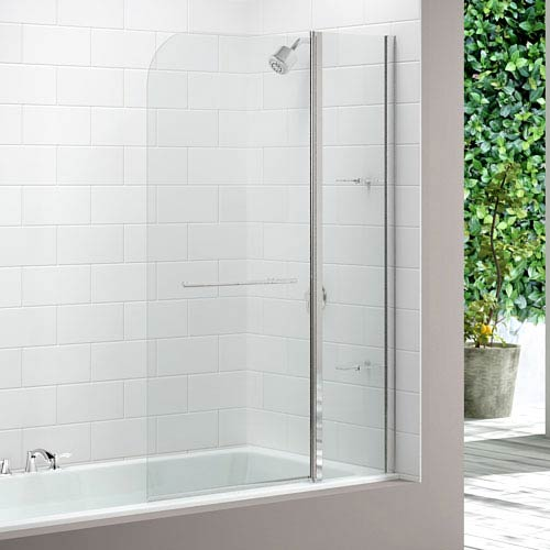 Merlyn Two Panel Curved Bath Screen (1150 x 1500mm) profile large image view 1