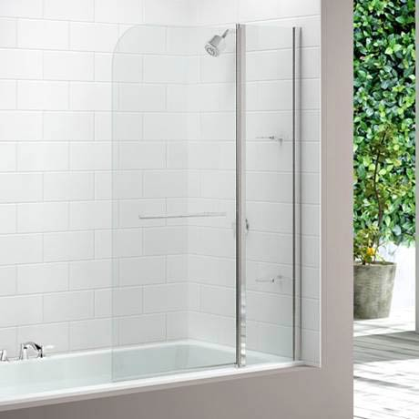 Merlyn Two Panel Curved Bath Screen (1150 x 1500mm)
