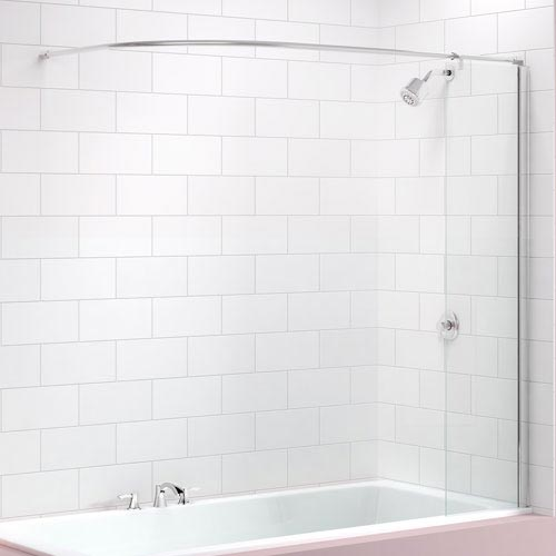 Merlyn Curtain Rail Bath Screen (300 x 1500mm) Large Image