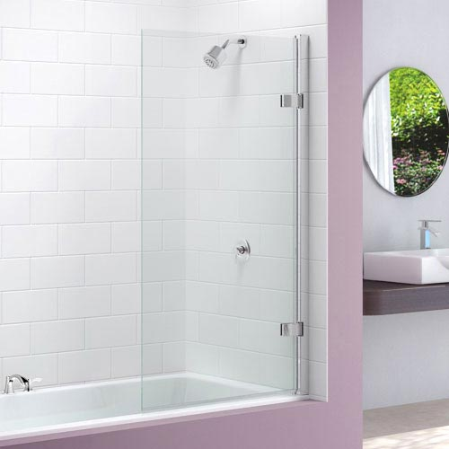 Merlyn Hinged Square Bath Screen (850 x 1500mm) Large Image