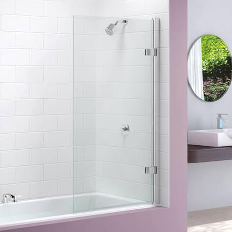 Merlyn Hinged Square Bath Screen (850 x 1500mm)