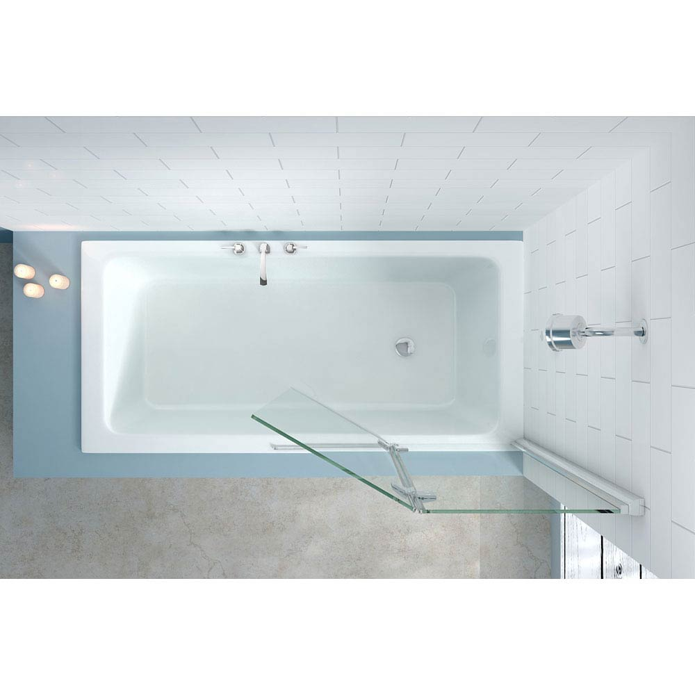 Merlyn Two Panel Hinged Bath Screen (900 x 1500mm) profile large image view 2