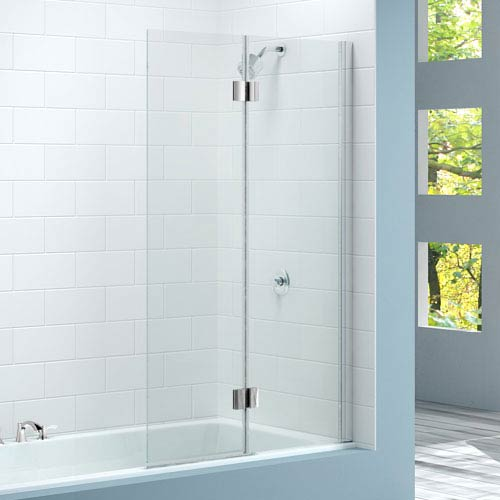 Merlyn Two Panel Hinged Bath Screen (900 x 1500mm) profile large image view 1