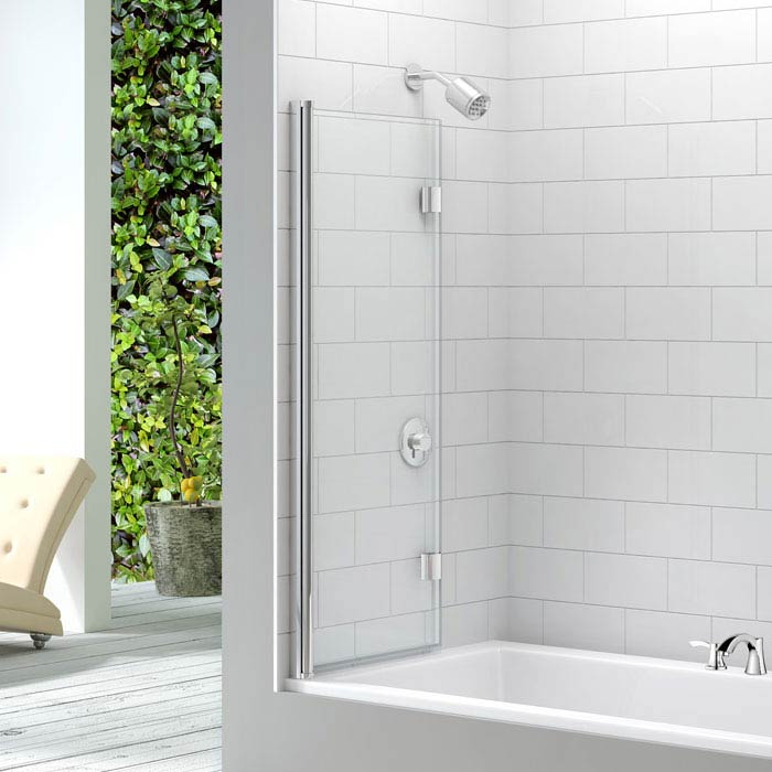 Merlyn Two Panel Folding Bath Screen (1100 x 1500mm)  Feature Large Image
