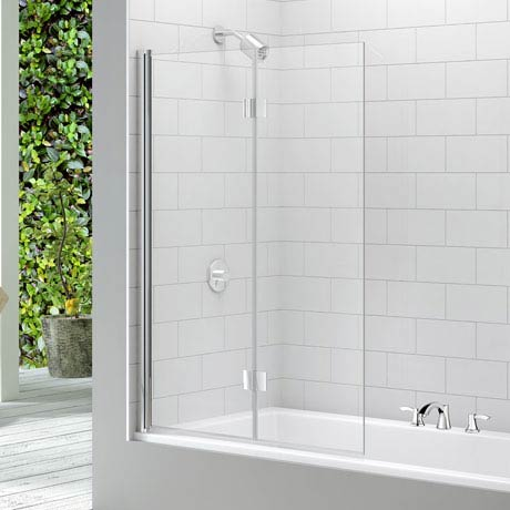 Merlyn Two Panel Folding Bath Screen (1100 x 1500mm)