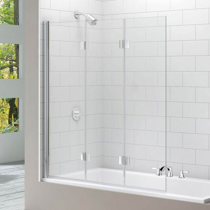 Merlyn Three Panel Folding Bath Screen (1400 x 1500mm) Large Image