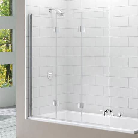 Merlyn Three Panel Folding Bath Screen (1400 x 1500mm)
