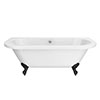 Admiral 1685 Back To Wall Roll Top Bath + Matt Black Leg Set profile small image view 1