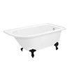 Appleby 1550 Roll Top Shower Bath + Matt Black Leg Set profile small image view 1