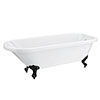 Bromley 1780 Single Ended Roll Top Bath + Matt Black Leg Set profile small image view 1