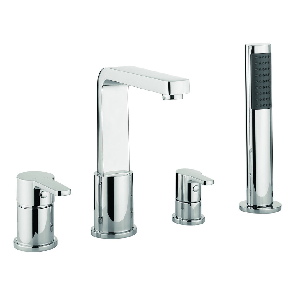 Adora - Feel 4 Hole Bath Shower Mixer with Kit - MBFE440D profile large image view 1