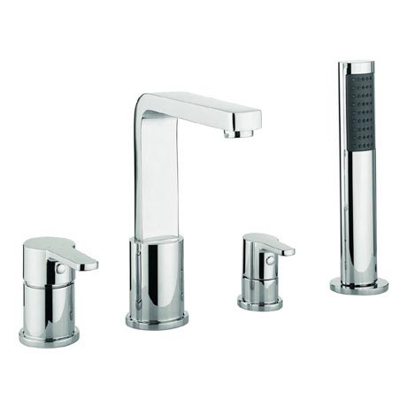 Adora - Feel 4 Hole Bath Shower Mixer with Kit - MBFE440D
