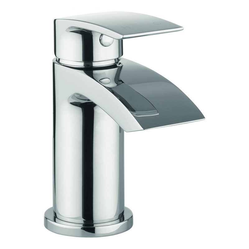 Crosswater Flow Mini Monobloc Basin Mixer Inc. Waste MBFW114P+