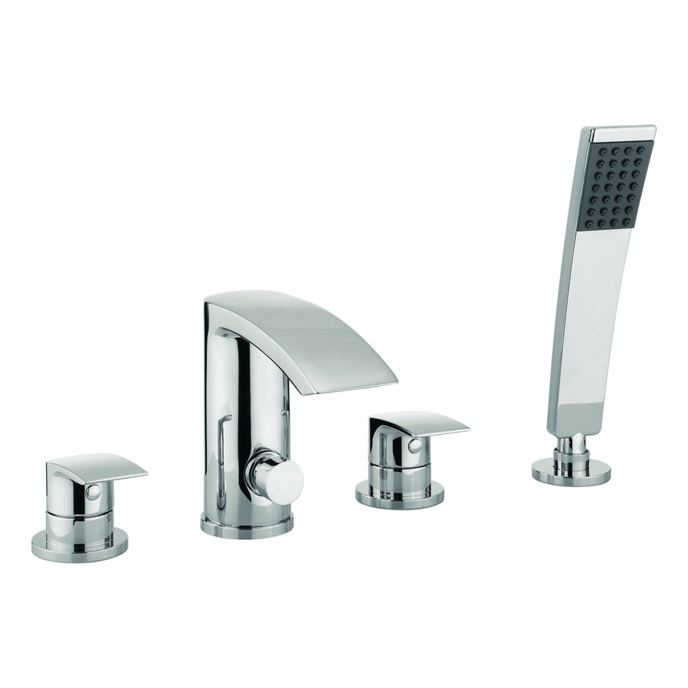 Adora - Flow 4 Tap Hole Bath Shower Mixer with Kit - MBFW440D Large Image