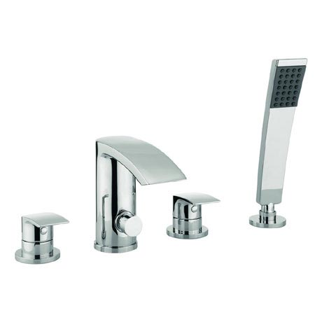 Adora - Flow 4 Tap Hole Bath Shower Mixer with Kit - MBFW440D