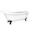 Oxford 1710 Roll Top Slipper Bath + Matt Black Leg Set profile small image view 1