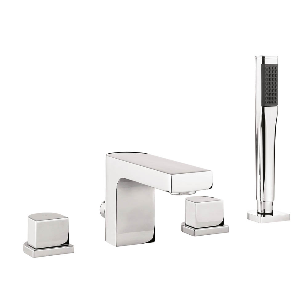 Crosswater - Planet 4 Hole Bath Shower Mixer with Kit - MBPS440D