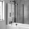Milan Hinged Bath Screen with Joining Magnets profile small image view 1