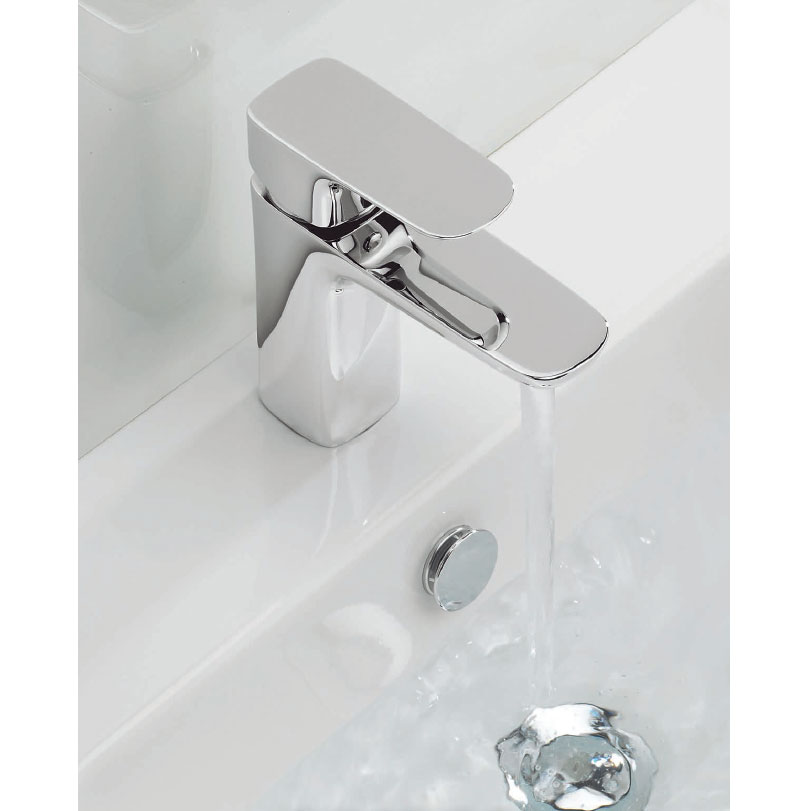 Adora - Serene Monobloc Basin Mixer with Click Clack Waste - MBSN110P+ profile large image view 2