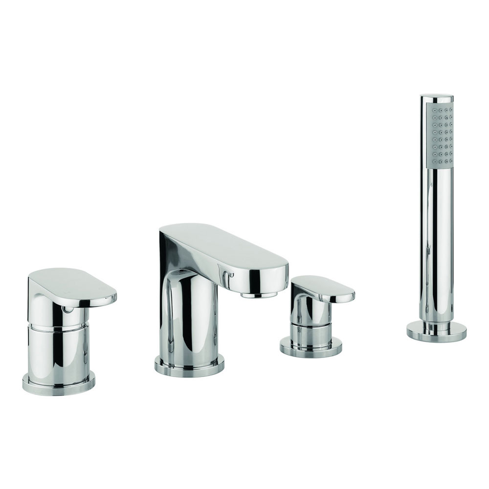 Adora - Style 4 Hole Bath Shower Mixer with Kit - MBST440D Large Image