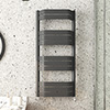 Milan Bow-Fronted Anthracite 1200 x 550 Designer Flat Panel Heated Towel Rail profile small image view 1