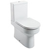 Metro Fully BTW Close Coupled Toilet + Soft Close Seat profile small image view 1