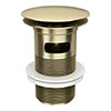 Arezzo Brushed Brass Slotted Click Clack Basin Waste profile small image view 1