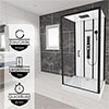 Insignia Monochrome 1150 x 850mm Rectangle Shower Cabin - MC115RT profile small image view 1