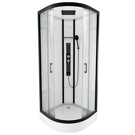 Insignia Monochrome 900 x 900mm Curved Quadrant Shower Cabin - MC90CQ