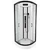 Insignia Monochrome 900 x 900mm Curved Quadrant Shower Cabin - MC90CQ profile small image view 1
