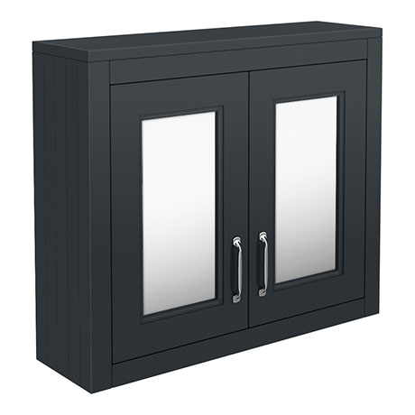 Chatsworth 690mm Graphite 2-Door Mirror Cabinet