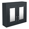 Chatsworth 690mm Graphite 2-Door Mirror Cabinet profile small image view 1