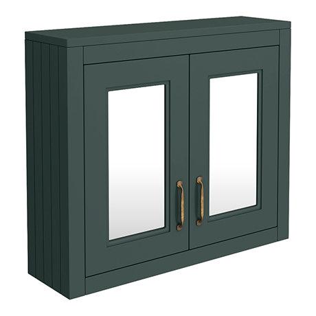 Chatsworth 690mm Green 2-Door Mirror Cabinet