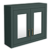 Chatsworth 690mm Green 2-Door Mirror Cabinet profile small image view 1