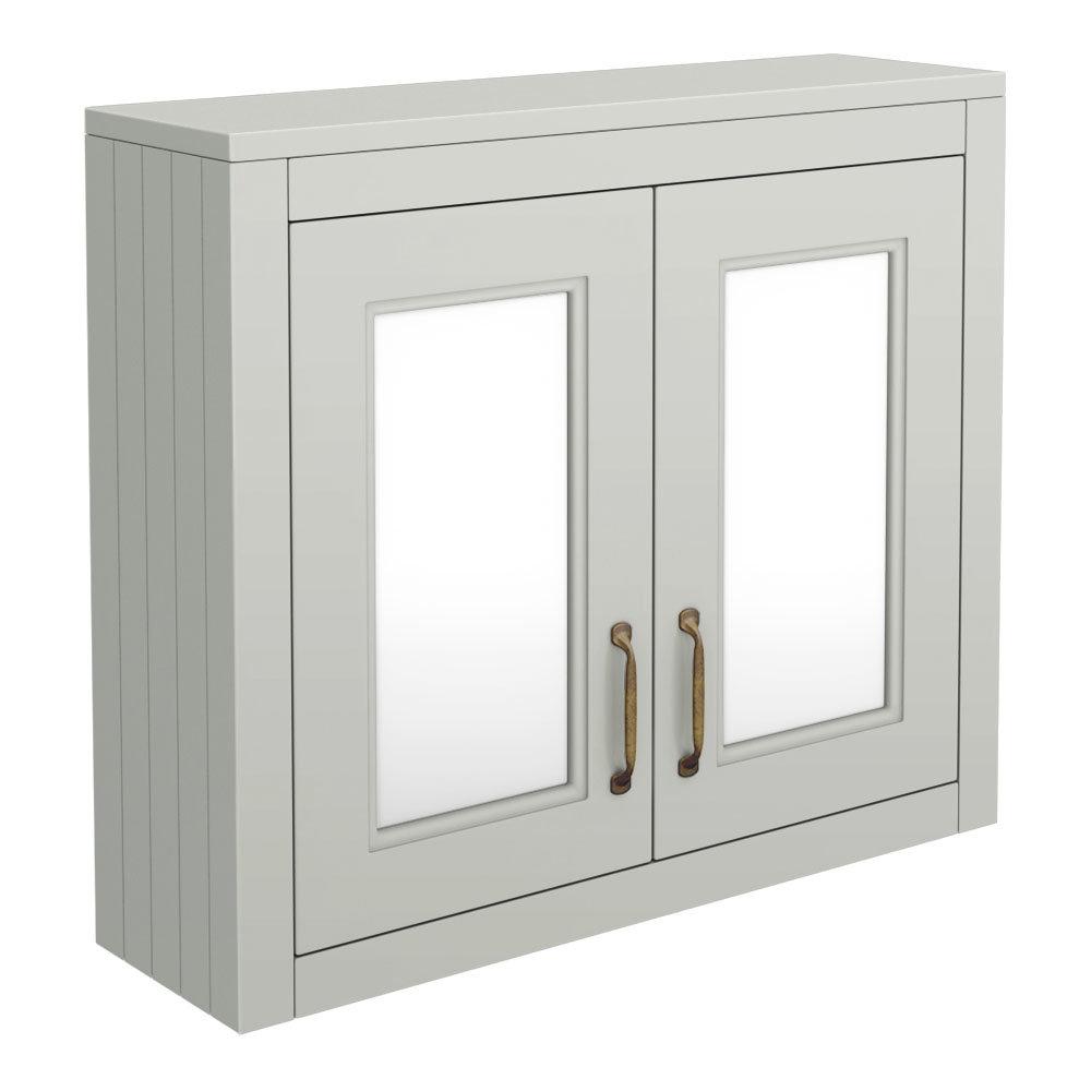 Chatsworth Grey 2-Door Mirror Cabinet - 690 x 593mm